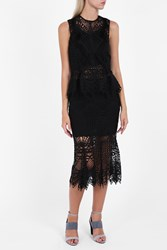 Jonathan Simkhai Women S Bridge Lace Trumpet Skirt Boutique1 Black