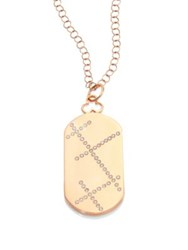 Devon Woodhill Rae Diamond And 18K Rose Gold Modern Dog Tag Locket