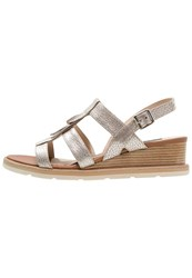 Zinda Rachel Wedge Sandals Platin Gold