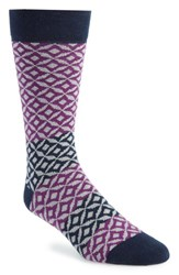 Ted Baker London Geometric Socks Navy