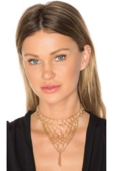 Ettika Lady Of The Manor Choker Metallic Gold