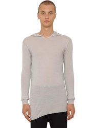 Rick Owens Virgin Wool Knit Sweater Oyster