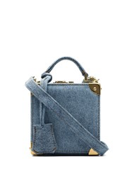Natasha Zinko Denim Stonewash Box Bag Blue