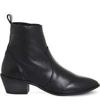 Office Leighton Leather Ankle Boots Black Leather