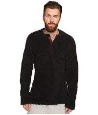 Original Penguin Henley Fleece Lounge Top True Black Men's Pajama