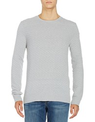 Strellson Textured Crewneck Sweater Silver