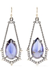 Alexis Bittar Gold Plated Crystal Earring One Size