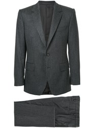 Gieves And Hawkes Pinstripe Suit Wool Grey