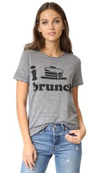 Chaser I Heart Brunch Tee Streaky Grey