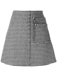 J.W.Anderson Houndstooth A Line Skirt Black