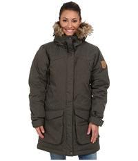 Fjall Raven Kyla Parka Mountain Grey Women's Coat Brown