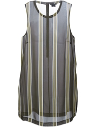 Theory Striped Sheer Top