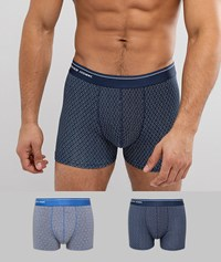 Selected Homme Boxers 2 Pack Dark Sapphire Multi