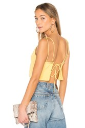 By The Way Caroline Backless Crop Top Yellow