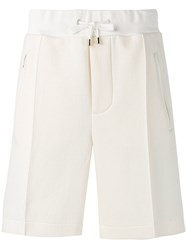 Umit Benan Tailored Drawstring Shorts Men Cotton Polyamide 52 White