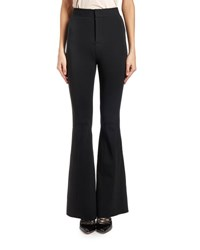 Givenchy Flared Stretch Crepe Pants Black