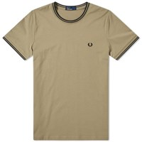 Fred Perry Twin Tipped Tee Green