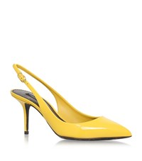 Dolce And Gabbana Kate Patent Slingbacks 75 Female Yellow