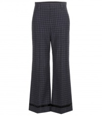 Marc Jacobs Check Wool Trousers Black