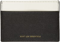 Want Les Essentiels Grey And Black Card Holder