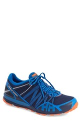 Men's Helly Hansen 'Terrak' Trail Running Shoe Evening Blue Cobalt Silver