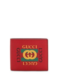 Gucci Vintage Logo Leather Wallet Red