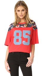 Hilfiger Collection Numbers T Shirt Mars Red Multi