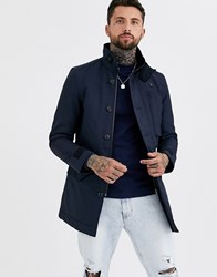 G Star Scutar Utility Padded Trench Coat In Blue