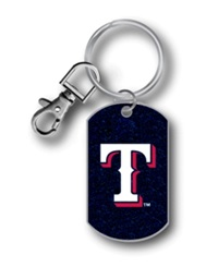 Aminco Texas Rangers Glitter Key Ring Team Color