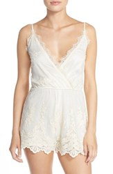 Women's Band Of Gypsies Embroidered Mesh Romper