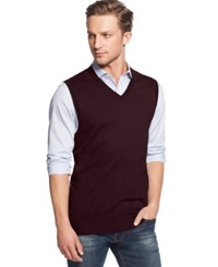 Club Room Big And Tall Sweater Vest Only At Macy's Red Plum