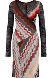 Missoni Wrap Effect Wool Blend Midi Dress Multi