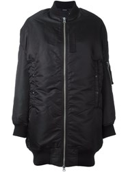 R 13 R13 Long Length Bomber Jacket Black
