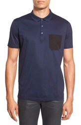 Hugo 'Dyron' Extra Trim Fit Polo Navy