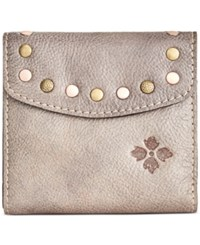 Patricia Nash Washed Denim Rieti Bi Fold Wallet Grey