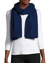 Lord And Taylor Long Cashmere Scarf Navy Blue