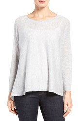 Eileen Fisher Women's Tencel Lyocell Blend Ballet Neck Top Dark Pearl