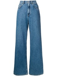 Haikure Wide Leg Jeans Blue