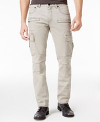 Inc International Concepts Men's Slim Fit Gray Cotton Cargo Pants Only At Macy's Grey Wash