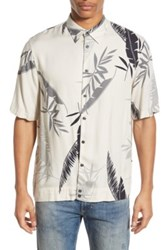 Diesel 'Palms' Extra Trim Fit Short Sleeve Print Woven Shirt White