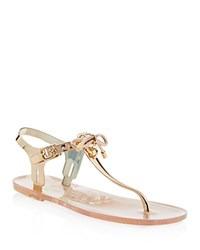 Kate Spade New York Fanley Jelly Thong Sandals Rose Gold