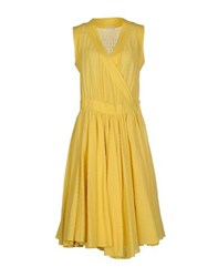 Stefano Mortari Dresses Knee Length Dresses Women Yellow