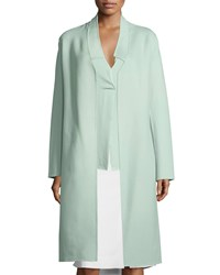 Halston Double Face Belted Coat Cucumber