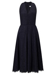 John Lewis Fit And Flare Lace Dress Navy