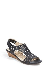 Me Too Women's Laser Cut Wedge Sandal
