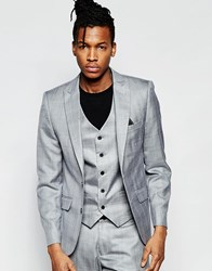 French Connection Cotton Satin Suit Jacket Grey