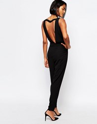 Y.A.S Diana Jumpsuit With Cut Out Back Black