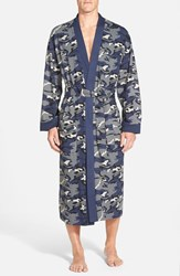 Men's Majestic International 'Camo Land' Cotton Robe Blue Navy