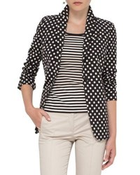 Akris Punto Polka Dot One Button Jacket Black