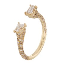 Susan Foster Yellow Gold Diamond Bullet Ring White
